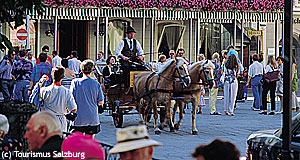 Fiaker or horse and carriages offer guided tours in Salzburg - not the only ones.