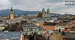 Linz, capital of Upper Austria - a genuinely happening place.