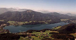 Lake Fuschlsee is among the clearest mountain lakes in Austria.