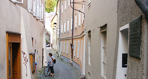 The steingasse is an ancient lane and one of Salzburg's most romantic corners.