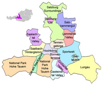 Tourismusregionen In Salzburg Destinationen In Osterreich